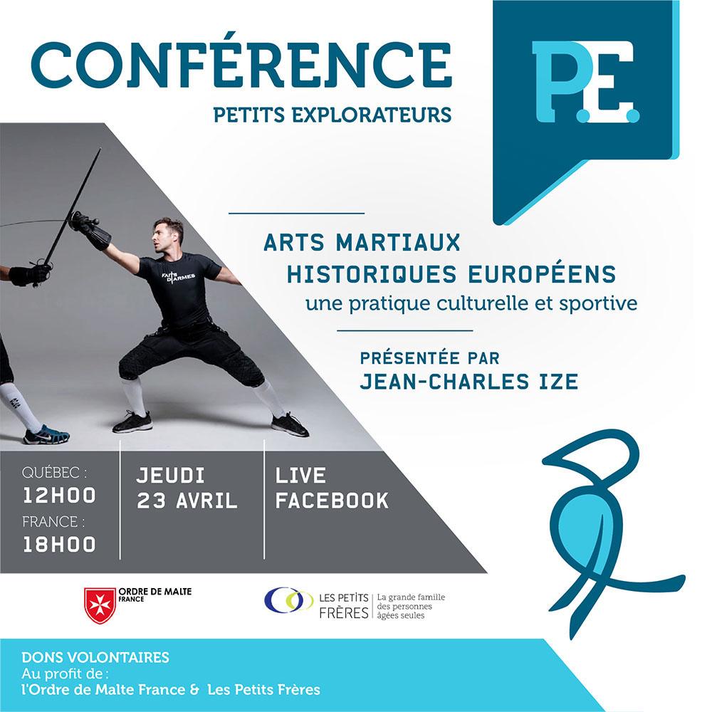 Affiche de la conférence sur les arts martiaux
