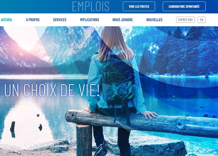 Page du nouveau site web de GDG