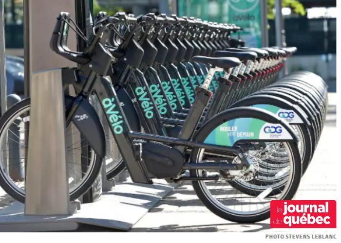 Article du Journal de Québec sur le nouveau service de vélo-partage à assistance électrique du RTC, àVélo, commandité par GDG Informatique et Gestion.