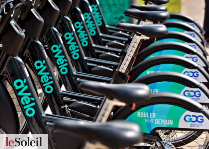 Article du Journal le Soleil sur le nouveau service de vélo-partage à assistance électrique du RTC, àVélo, commandité par GDG Informatique et Gestion.